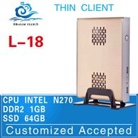 latest desktop computers fanless pc Mini thin client L-18 1GB RAM 64GB SSD support wireless keyboard, mouse and touch screen