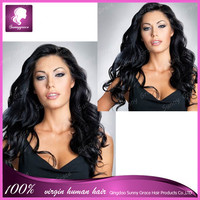 malaysian human hair wet and wavy left side part silk base top full lace wig off black with bleached knots for women