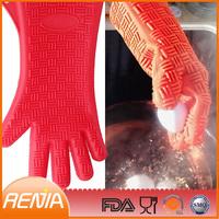 RENJIA new design silicone heat-resistant gloves rubber gloves waterproof heat resistant gloves