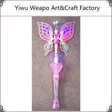 New Arrival Kids Funny Party Decoration Light Up Fairy Wand Butterfly Led Wand