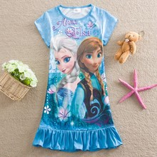 frozen elsa New style fashion Dress for Girls/hot Dress girls in 2015 HT103