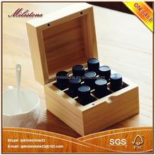 Wooden Essential Oil Bottle Storage Box Wooden Storage Box / Case / Chest