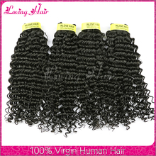 Hot selling 100% Virgin indian human hair weaving indian hair deep curly wholesale indian different types of curly weave hair