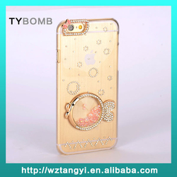 New cell phone cover for iphone 6, stylish crystal diamond pc cell phone case