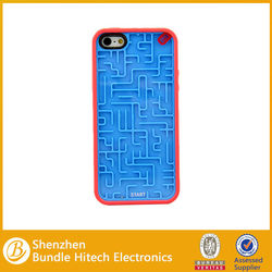 Creative Maze design rubber case for iphone 5,for i5 TPU cover