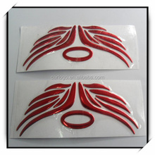3D soft sticker, adhesive logo, name plate, red chrome sign