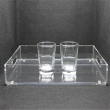 top-end transparent simple design acrylic tray with handle