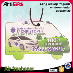 Artigifts company professional hanging paper cheap custom car air freshener
