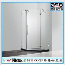fashion push to open 10mm Tempered Glass shower screens and doors