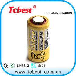 High quality L1325 4LR44 alkaline 6v dry cell battery small with remote control