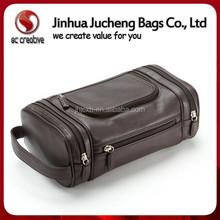 2015 Good Quality PU Cosmetic Bag Unique Design hanging mens travel cosmetic bag