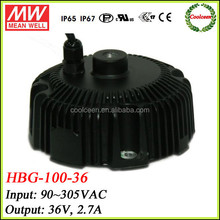 Meanwell constant current led driver HBG-100-36