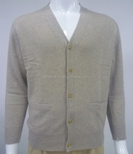wholesale 12gg flat knitted cardigan style men pure cashmere sweater