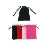 Wholesales 7*9cm Small Mobile phone accessories velvet drawstring bags
