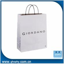 cheap custom paper shopping bag