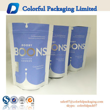 2015 Custom Printed Resealable Foil Lined Cookies Packaging Bags Ziplock Stand up Pouch