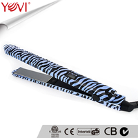 Professional new design LCD flat iron 100 ceramic hair straightener