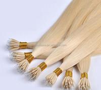 "20"" Brazilian Remy AAAA Grade Nano Tip Pre Bonded Human Hair Extensions x200"