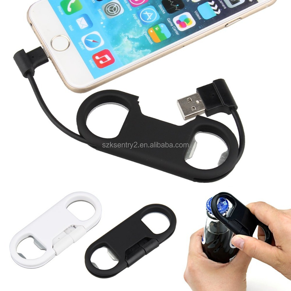 peleustech micro usb to usb charge sync cable bottle opener keychain for android smartphone. Black Bedroom Furniture Sets. Home Design Ideas