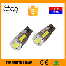 Hot selling t10 5630 smd led canbus
