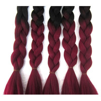Synthetic Ombre Marley Hair Braid/X-pression Ultra Braid/Ombre X-pression Braid Hair