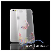 Factory Make Plastic Hard Case Bling Diamond Vintage Floral Cover for iPhone 6 Case