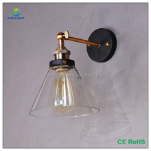 Antique Industrial Wall Lamp Glass Light DIY Lighting Home Cafe Castle Style