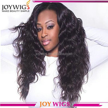 Factory price Brazilian Deep wave human hair middle part full lace wig