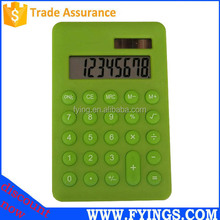 Promotional electronic 8 digit mini slim solar power pocket calculator