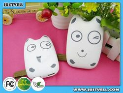 New Cartoon Totoro chinchillas design 7800mAh solar battery charger / Solar usb Charger with led indicator