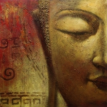 handmade buddha oil painting, abstarct digital printing oil painting canvas, mess hall decoration