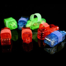 One Bag For Party/Decoration LED Laser Finger Gadget Beams Glow Light Ring Torch China/led finger