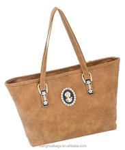 fashion lady pu leather bag guangzhou satchel handbags factory price