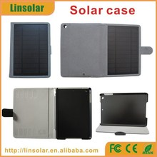 For apple ipad high quality pu leather flip cover 6000mAh external solar battery case for ipad mini