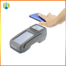 "4.3"" touch android mobile pos terminal with thermal printer,2D barcode software all in one pos machine -Gc028+"