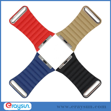 Luxury Leather Loop Strap Watch Band For Apple Watch 38mm 42mm Magnetic Closure