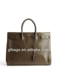 GF-J303 Green Calfskin Top Handle Tote Bag Imitation Branded Bags Ladies