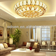 Modern family crystal led round bluetooth shape noble ceiling light