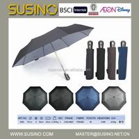 Hot Selling Susino 3 Section Auto Open Close Umbrella Wholesale