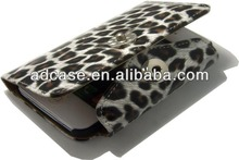 Hot selling leopard wallet case cell phone case for iphone 4 5