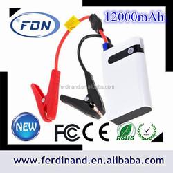 High quality battery jump starter,mini car jump starter with 12000mAH car jump starter power bank