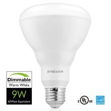 UL Energy Star BR30 Dimmable 9W 65 Watt Equivalent Warm White led R30 flood light bulbs -- E26 120V UL Energy Star