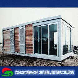 Light weight steel structure portable houses/villa/container shop/sentry box/temporary mini office for sale