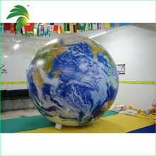 2015 Hot Selling Inflatable Earth With Led Light Wiht High Quality UV Printing