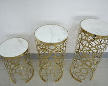 modern gold stainless steel flower pot stand