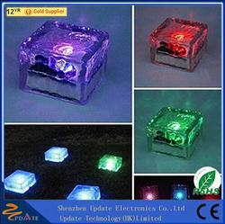Super Bright Frosted Waterproof Glass Led Solar Brick Paver Light Light Brick