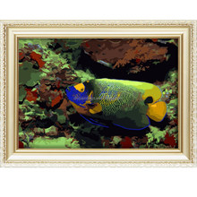 Hot sale diy paintings by numbers wholesale with lovely fish design