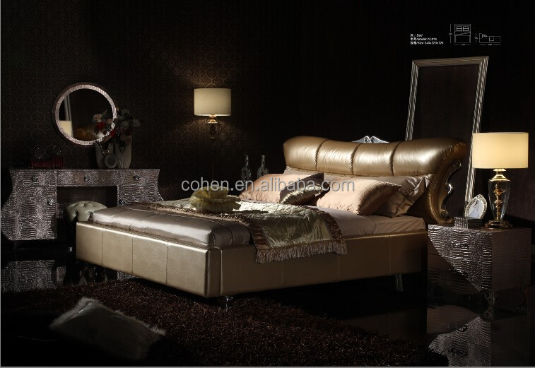 Hot Sale Antique Real Leather Bedroom Furniture Luxury Bedroom Furniturebed Buy Bedroom