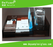 Acrylic Hotel Amenity Tray / Acrylic Amenities Tray for Bathroom