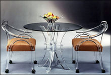 Modern table and chair set for coffee shop acrylic furniture